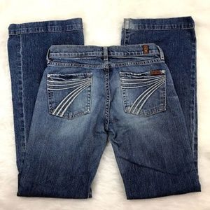 7 For All Mankind Dojo Jean 28 Straight Distressed